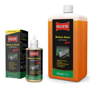 ballistol-robla-solo-mil-laufreiniger-waffenöl-waffenreinigung-waffenplegeoel-waffenoel-fuer-langwaffen-und-kurzwaffen-robla-solo-chemiche-laufreinigung-tombak-entfernen