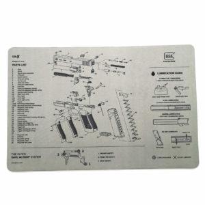 glock-gen5-unterlage-reinigungsunterlage-glock17-9mm-waffenreinigung-fanartikel-grau