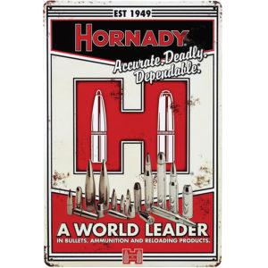 hornady-werbeschild-tin-sign-nostalgie-wiederladen-wiederladepresse-dekoration-jaäger-sportschütze-red-zone-99101