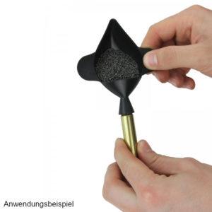 lyman-pulverwaage-schale-trichter-pulverfüller-powder-pan-funnel-nc-pulver-treibladungspulver-trichter-waggschale-waageschale
