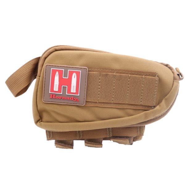 hornady-schafttasche-gewehrschaft-patronenetui-gun-cheel-piece-hornady-händler-ammo-depot-braun