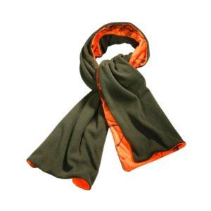 wald-und-fors-jagdbekleidung-kaufen-wendeschal-realtree-camo-camouflage-signalfarbe-jagd-winter-schaal-fleece-oliv-jagd-grün-bockjagd-treibjagd-kaufen-ammo-depot-scarf