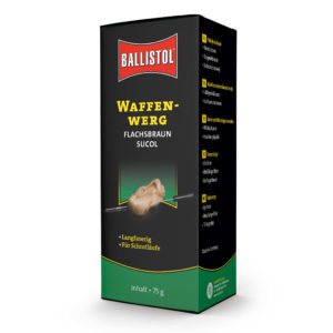 ballistol-waffenpflege-sucol-waffenwerg-reinigungspropfen-filzpropfen-waffenpflege-kaufen-ammo-depot-schrotlauf-reinigen-gewehrreinigungswerg-flachsbraun