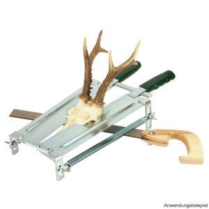 gehörnsäge-fritzmann-reh-gams-trophäenbearbeitung-jagdtrophäe-sägevorrichtung-rehschädel-trophäen-bearbeitung-jagdshop-ammodepot